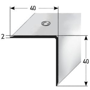O 305 Podestboden-Winkelprofil mit Vermaßung