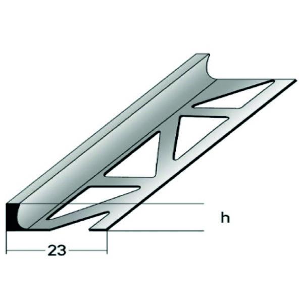 Z 652 PVC Trennprofil, Zeichnung mit Vermaßung